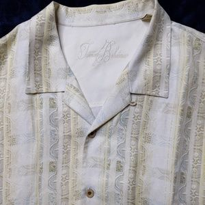 Tommy Bahama Shirt XL Silk Linen Blend Camp Button